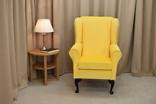 Wingback Fireside Chair  in Lemon Cambio Fabric - NEW