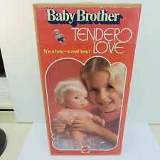 "Mattel 1975 Tender Love BABY BROTHER Doll Toy 13"" Tall Anatomically Correct"