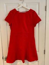 3fbabe420c6 NWT J Crew factory women dress Red Size 14 regular career short sleeve J. Crew