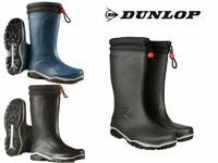 Dunlop Fleece Lined Wellies Thermal Padded Waterproof Warm Fur Wellington Boots