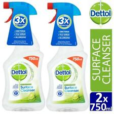 2 x Dettol Anti-Bacterial Surface Cleanser Spray Lime and Mint 750ml