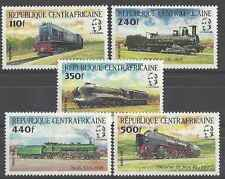 Timbres Trains Centrafrique 620/4 ** lot 16328