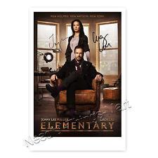 Elementary mit Jonny Lee Miller / Sherlock Holmes & Lucy Liu - Autogramm [K1] 