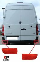 Per VW Crafter 06-17, MB Sprinter 06-13 Nuovo Post. Paraurti Riflettore Red Set