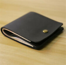 Simple Handmade Genuine Leather Men's Wallet Bifold Purse Credit Card hold