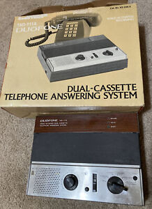Vintage Radio Shack Duofone TAD-111A Dual Cassette Phone Answering System
