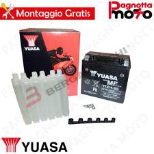BATTERIE YUASA YTX14-BS C/ACIDE APRILIA MANA GT 850 2009>