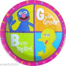 SESAME STREET P is for Party SMALL PAPER PLATES (8) ~ Birthday Supplies Dessert