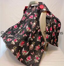 TATTOO DESIGNS / INFANT / BABY CAR SEAT CANOPY / TENT / COVER - HANDMADE  GOTH