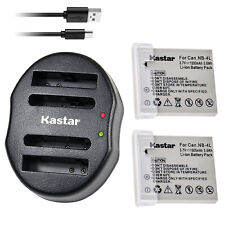 Kastar NB-4L Battery + Charger For Canon Powershot ELPH 330 SD960 SD970 SD1400IS