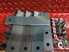 "8 x blade and bolt set suit cox and victa 32"" ride on lawnmower L"