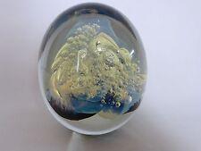 Robert Eickholt Milky Way Design Paperweight Signed Art Glass Retired 2000