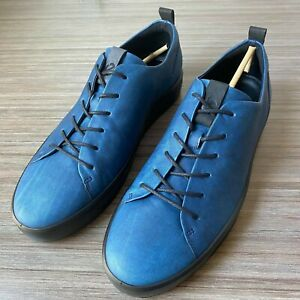 ECCO Soft 8 Men's Lace Up Sneakers Indigo size 48 US 14-14.5 $170 Shoes