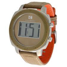 Polierte Armbanduhren mit Textilgewebe-Armband für Erwachsene