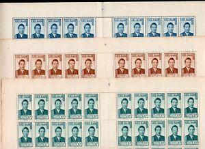 South Vietnam 1951 3 sheets of stamps Mi#69,67,73 MNH CV=10000++ RRR!!!