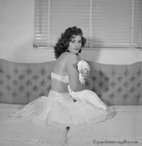 Bunny Yeager 1950s Pin-up Camera Negative Pretty Lingerie Model Virginia Remo NR