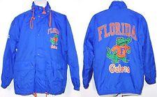Vtg Apex One University of Florida Gators Blue Nylon Windbreaker Jacket sz Small