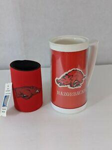 Arkansas Razorbacks Thermo-Serv  Insulated Thermal Mug & can holder - Set of 2