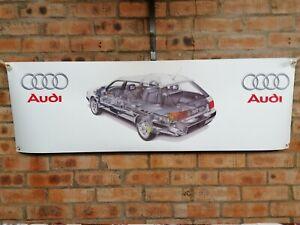 Audi 100 QUATTRO ESTATE C4    large pvc  WORK SHOP BANNER garage   SHOW