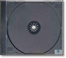 50 SINGOLO CD JEWEL CASE 10.4mm Colonna vertebrale Con Vassoio Nero Nuovo Ricambio Vuoto Copertina