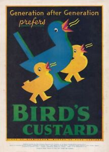 Birds Custard, England, Vintage Grocery and Confectionery Poster