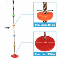 Tree Swing Climbing Rope with Platforms Disc Swing Seat Playground Kids Outdoor