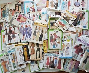 Vintage Sewing Pattern Lot of 66 Misses Simplicity Butterick McCalls USED