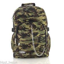 CAMOUFLAGE BACKPACK RUCKSACK Check Skate School College Army Emo Laptop CHOK Bag