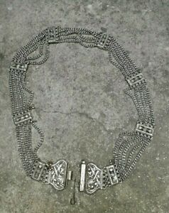 OLD Womens Fashion Concho Belt Bohemian Tribal Fusion Boho Belly dance Jewelry