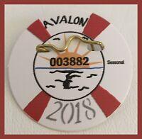 Avalon New Jersey Seasonal Beach Tag - 2018 - #003882 - Colorful!