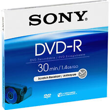 10 Sony DVD-R mini 8cm 30Min 1,4GB Jewelcase Rohlinge für Camcorder 10Stk.
