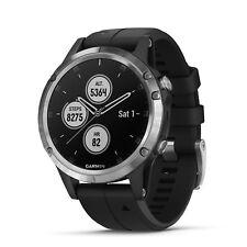 Garmin fenix 5 Plus 47mm Glass Multisport GPS Watch Silver/Black Band