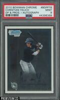 2010 Bowman Chrome Christian Yelich Marlins RC Rookie AUTO PSA 9 MINT