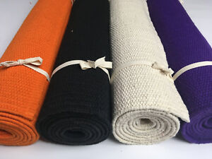 Yoga Mat / Rug (7.5mm) Handwoven Organic Cotton Rubber Backed - Made In India ॐ