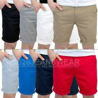 Men's Lightweight Slim Fit Summer Chino Shorts - Available in 8 Colours, BNWT