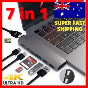 USB 3.1 Type C USB-C to Data USB Combo HUB HDMI VGA Charge Port Adapter Cable 4K