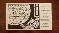 CHALAND Invitation à dédicace La Marque Jaune 1985