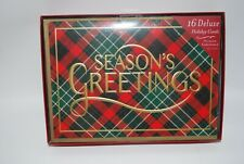 CR Gibson Holiday Christmas Cards Premium Embellished Ornament Design Box Set 16