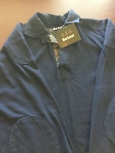 Barbour Men's Long sleeved Weathered Paddock shirt Large Navy