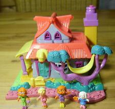 Polly Pocket Mini ♥ Kitty House ♥ Süße Villa ♥ 100% Complete ♥ LICHT ♥ 1994 ♥