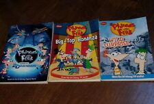Lot of 3 Phineas and Ferb Books Wild Surprise 2nd Dimension Big Top Bonanza Nice