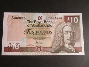 GREAT BRITAIN, RBS 1988-2016 ISSUE, £10 DATED 30.11.2010, HESTER P353c, UNC