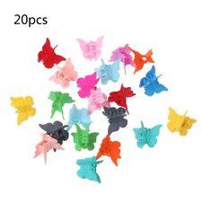 20PCS Hair Claws Mini Multi Colors Hair Clips Butterfly Shape Hair Clamps