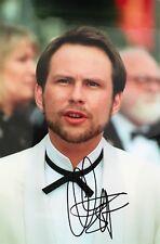 Christian Slater signed 12x8 photo UACC RACC AFTAL dealer COA Image D
