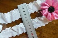 Cambric Cotton Lace OFF WHITE 15-25mm wide 5 Metre Lengths - Sunrise ch95 FltLwn