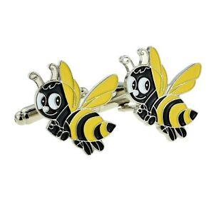 Bumblebee Cufflinks Presented in a Box X2JKC-B1-16