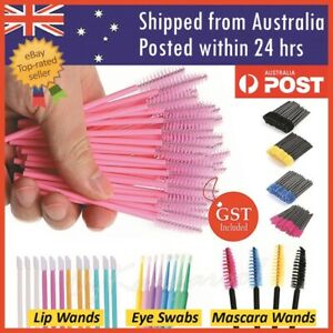 Disposable Mascara Wands Eyelash Brushes Applicator Lash Extension Lip Brush AU