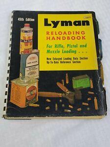 VTG 1970 LYMAN Reloading Handbook 45th Edition for Rifle Pistol Muzzle Loading