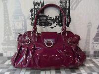 Authentic Salvatore Ferragamo Patent Leather Marisa good condition
