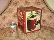 Vintage Wine Steward Refrigerating Wine Bucket with Freezer Inserts - Claret Red